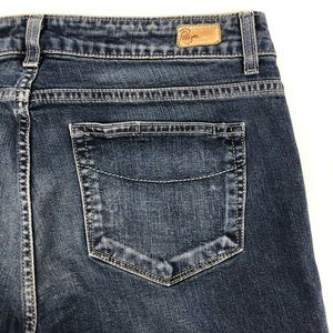 Paige Robertson Medium Wash Boot Cut Blue Jeans